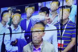 Visitors experience facial recognition technology at Face++ booth during the China Public Security Expo in Shenzhen, China October 30, 2017. Picture taken October 30, 2017.     REUTERS/Bobby Yip