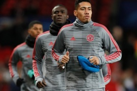 Soccer Football – Champions League Round of 16 Second Leg – Manchester United vs Sevilla – Old Trafford, Manchester, Britain – March 13, 2018   Manchester United's Chris Smalling warms up before the match    REUTERS/David Klein