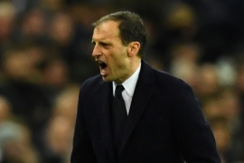 Soccer Football – Champions League Round of 16 Second Leg – Tottenham Hotspur vs Juventus – Wembley Stadium, London, Britain – March 7, 2018   Juventus coach Massimiliano Allegri    REUTERS/Dylan Martinez