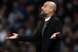 MANCHESTER, ENGLAND – MARCH 07:  Josep Guardiola, Manager of Manchester City gives instructions during the UEFA Champions League Round of 16 Second Leg match between         Manchester City and FC Basel at Etihad Stadium on March 7, 2018 in Manchester, United Kingdom.  (Photo by Laurence Griffiths/Getty Images)