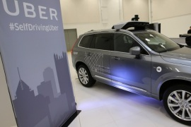 Uber's Volvo XC90 self driving car is shown during a demonstration of self-driving automotive technology in Pittsburgh, Pennsylvania, U.S. September 13, 2016.  REUTERS/Aaron Josefczyk