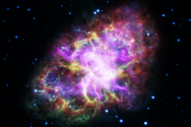 This composite image of the Crab Nebula, a supernova remnant, was assembled by combining data from five telescopes spanning nearly the entire breadth of the electromagnetic spectrum: the Karl G. Jansky Very Large Array, the Spitzer Space Telescope, the Hubble Space Telescope, the XMM-Newton Observatory, and the Chandra X-ray Observatory. Photo released May 10, 2017. NASA, ESA, NRAO/AUI/NSF and G. Dubner (University of Buenos Aires)/Handout via REUTERS ATTENTION EDITORS