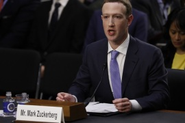 Facebook CEO Mark Zuckerberg testifies before a Senate Judiciary and Commerce Committees joint hearing regarding the company's use and protection of user data on Capitol Hill in Washington, U.S., April 10, 2018. REUTERS/Aaron P. Bernstein