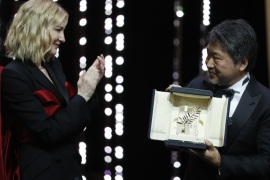 71st Cannes Film Festival – Closing ceremony – Cannes, France May 19, 2018. Director Hirokazu Kore-eda Palme d'Or award winner for his film