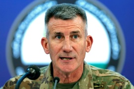 U.S. Army General John Nicholson, commander of Resolute Support forces and U.S. forces in Afghanistan, speaks during a news conference in Kabul, Afghanistan November 20, 2017. REUTERS/Mohammad Ismail