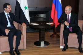 Russian President Vladimir Putin meets with Syrian President Bashar al-Assad in the Black Sea resort of Sochi, Russia May 17, 2018. Sputnik/Mikhail Klimentyev/Kremlin via REUTERS ATTENTION EDITORS – THIS IMAGE WAS PROVIDED BY A THIRD PARTY.