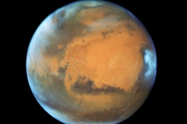 The planet Mars is shown May 12, 2016 in this NASA Hubble Space Telescope view taken May 12, 2016 when it was 50 million miles from Earth. Earth's neighbor planet makes its closest approach in a decade this month, providing sky-watchers with a celestial show from dusk to dawn.    NASA/Handout via Reuters   ATTENTION EDITORS – THIS IMAGE WAS PROVIDED BY A THIRD PARTY. EDITORIAL USE ONLY