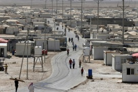 A general view of Al Zaatari refugee camp is pictured in the Jordanian city of Mafraq, near the border with Syria, September 19, 2015. The United Nations Under-Secretary General for Humanitarian Affairs Stephen O'Brien visited Jordan's vast Zaatari refugee camp on Saturday (September 19), his first such visit since taking office in March. The U.N.'s humanitarian chief met officials and refugees in his tour of the camp near the city of Mafraq. More than 600,000 refuge