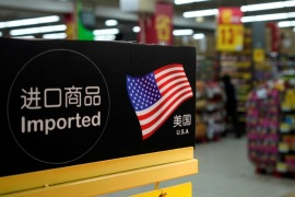 Imports from the U.S. are seen at a supermarket in Shanghai, China April 3, 2018. REUTERS/Aly Song