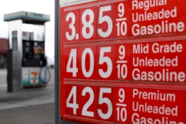 Gasoline prices are shown in Oceanside, California, U.S., May 21, 2018.  REUTERS/Mike Blake