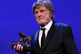 Actor Robert Redford receives a Golden Lion award for lifetime achievement at the 74th Venice Film Festival in Venice, Italy, September 1, 2017. REUTERS/Alessandro Bianchi