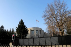 ANKARA, TURKEY – DECEMBER 20: General view of the U.S. Embassy in Ankara, December 20, 2016, Turkey. Early in the morning Turkish police detained a man who fired shots in front of the U.S. embassy in Ankara, several hours after the Russian ambassador to Turkey was killed in an attack across the street. (Photo by Erhan Ortac/Getty Images)
