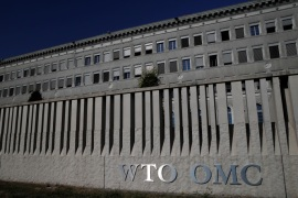 The World Trade Organization (WTO) headquarters are pictured in Geneva, Switzerland, July 26, 2018.  REUTERS/Denis Balibouse