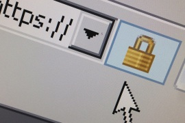 A lock icon, signifying an encrypted Internet connection, is seen on an Internet Explorer browser in a photo illustration in Paris April 15, 2014. About two thirds of all websites use code known as OpenSSL to help secure those encrypted sessions. Researchers last week warned they have uncovered a security bug in OpenSLL dubbed Heartbleed, which could allow hackers to steal massive troves of information without leaving a trace.  REUTERS/Mal Langsdon  (FRANCE – Tags: SCIE