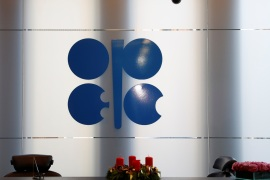 The logo of the Organization of the Petroleum Exporting Countries (OPEC) is seen inside their headquarters in Vienna, Austria December 7, 2018.   REUTERS/Leonhard Foeger