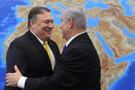 US Secretary of State Mike Pompeo in Tel Aviv- – TEL AVIV, ISRAEL – APRIL 29: (—-EDITORIAL USE ONLY – MANDATORY CREDIT –
