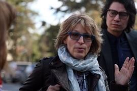 UN's special rapporteur Agnes Callamard in Istanbul- – ISTANBUL, TURKEY – JANUARY 29: Agnes Callamard the UN's special rapporteur on extrajudicial summary or arbitrary executions (front) arrives at to probe the killing of Saudi journalist Jamal Khashoggi  at the Consulate General of Saudi Arabia in Istanbul, Turkey on January 29, 2019.