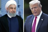 epa06931718 (FILE) – A combo photograph issued on 07 August 2018 shows Iranian President Hassan Rouhani (L) arriving for the Shanghai Cooperation Organization (SCO) summit 2018 summit in Qingdao, China, 10 June 2018, and US President Donald J. Trump (R) walking toward Marine One on the South Lawn of the White House in Washington, DC, USA, 31 July 2018. Media reported that following the re-imposing of sanctions by the US against Iran, Rouhani said that 'offering negotia