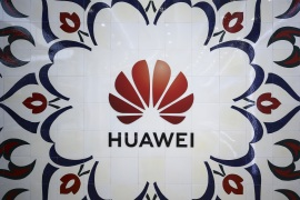Istanbul becomes Huawei's technological base- – ISTANBUL, TURKEY – MARCH 08: Logo of Huawei, Chinese multinational telecommunications equipment and consumer electronics manufacturer, is seen at its building in Istanbul, Turkey on March 08, 2019.