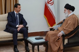 Syria's President Bashar al-Assad meets with Iranian Supreme Leader Ayatollah Ali Khamenei in Tehran, Iran in this handout released by SANA on February 25, 2019. SANA/Handout via REUTERS ATTENTION EDITORS – THIS IMAGE WAS PROVIDED BY A THIRD PARTY. REUTERS IS UNABLE TO INDEPENDENTLY VERIFY THIS IMAGE