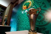 Soccer Football – African Champions League Group Stage Draw – Nile Ritz-Carlton Hotel, Cairo, Egypt – December 28, 2018  The CAF Confederation Cup and the CAF Champions League trophies on display before the draw  REUTERS/Amr Abdallah Dalsh