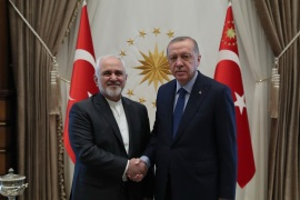 Recep Tayyip Erdogan – Mohammad Javad Zarif- – ANKARA, TURKEY – APRIL 17: (—-EDITORIAL USE ONLY – MANDATORY CREDIT –