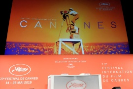 PARIS, FRANCE – APRIL 18: A general view of the stage at the 72th Cannes Film Festival Official Selection Presentation At UGC Normandie In Paris on April 18, 2019 in Paris, France. (Photo by Dominique Charriau/Getty Images)