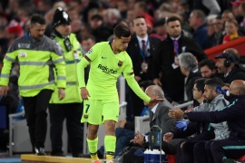 LIVERPOOL, ENGLAND – MAY 07:  Philippe Coutinho of Barcelona shakes hands with the team bench as he is substituted during the UEFA Champions League Semi Final second leg match between Liverpool and Barcelona at Anfield on May 07, 2019 in Liverpool, England. (Photo by Shaun Botterill/Getty Images)