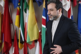Iran's chief nuclear negotiator Abbas Araghchi leaves after giving a statement after meeting IAEA Director General Yukiya Amano (not pictured) at the IAEA headquarters in Vienna February 24, 2015.  REUTERS/Heinz-Peter Bader (AUSTRIA  – Tags: POLITICS ENERGY)