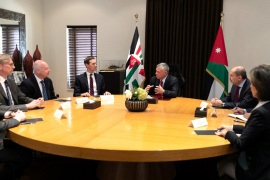 Jordan's King Abdullah meets with Senior White House Advisor Jared Kushner in Amman, Jordan, May 29, 2019. Yousef Allan/Royal Palace/Handout via Reuters ATTENTION EDITORS – THIS PICTURE WAS PROVIDED BY A THIRD PARTY. REUTERS IS UNABLE TO INDEPENDENTLY VERIFY THE AUTHENTICITY, CONTENT, LOCATION OR DATE OF THIS IMAGE.