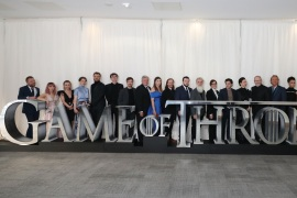 BELFAST, NORTHERN IRELAND – APRIL 12: The cast of Game of Thrones attend the