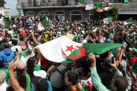 epa07578884 Algerians protest during a demonstration for the departure of the Algerian regime in Algiers, Algeria, 17 May 2019. according to the local media reports, Algerian Ministry of Interior reported that 73 potential candidates have asked forms to collect the required signatures to run the next presidential election scheduled for 4 July. the protesters are demanding the departure of the Algerian government t EPA-EFE/MOHAMED MESSARA