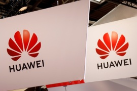 The logo of Huawei is seen at the high profile startups and high tech leaders gathering, Viva Tech,in Paris, France May 16, 2019. REUTERS/Charles Platiau