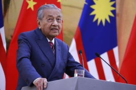 BEIJING, CHINA – AUGUST 20: Malaysian Prime Minister Mahathir Mohamad speaks to reporters during a press conference at the Great Hall of the People (GHOP) in Beijing, China, 20 August 2018. (Photo by How Hwee Young – Pool/Getty Images)