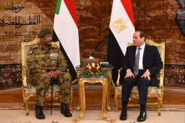 Abdul Fattah al-Burhan, head of the Sudanese Transitional Military Council (TMC), visits Cairo photo information