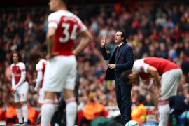 Soccer Football – Premier League – Arsenal v Brighton & Hove Albion – Emirates Stadium, London, Britain – May 5, 2019  Arsenal manager Unai Emery during the match            REUTERS/Hannah McKay  EDITORIAL USE ONLY. No use with unauthorized audio, video, data, fixture lists, club/league logos or