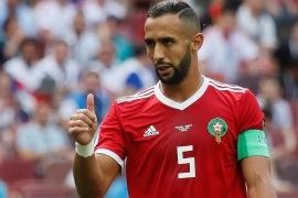 Soccer Football – World Cup – Group B – Portugal vs Morocco – Luzhniki Stadium, Moscow, Russia – June 20, 2018   Morocco's Medhi Benatia gestures      REUTERS/Maxim Shemetov