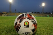Soccer Football – Zimbabwe Training – El Sakka El Hadeed Stadium, Egypt – June 19, 2019 – The official African Cup of Nations football during Zimbabwe's training in Cairo. REUTERS/Mohamed Abd El Ghany