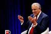 U.S. envoy for peace in Afghanistan Zalmay Khalilzad speaks during a debate at Tolo TV channel in Kabul, Afghanistan April 28, 2019. REUTERS/Omar Sobhani
