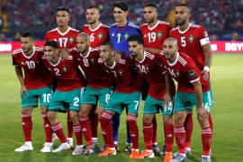 Soccer Football – Africa Cup of Nations 2019 – Group D – Morocco v Ivory Coast – Al Salam Stadium, Cairo, Egypt – June 28, 2019  Morocco team group before the match  REUTERS/Amr Abdallah Dalsh
