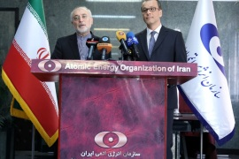 Ali Akbar Salehi, director of Iran's nuclear energy agency speaks during a news conference with the acting head of the U.N. nuclear watchdog (IAEA), Cornel Feruta, in Tehran, Iran September 8, 2019.  PR of IAEO (Iran's Atomic Energy Organization)/WANA (West Asia News Agency) via REUTERS   ATTENTION EDITORS – THIS IMAGE HAS BEEN SUPPLIED BY A THIRD PARTY.
