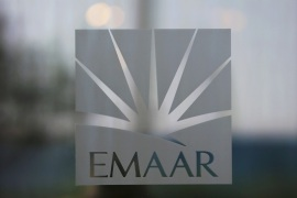 The corporate logo of EMAAR is seen in Dubai, United Arab Emirates, December 28, 2018. Picture taken December 28, 2018. REUTERS/ Hamad I Mohammed