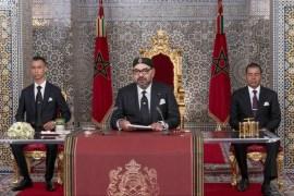 ملك المغرب أكد في البرقية حرص المملكة على مواصلة ما سماه دورها الفاعل ومساعيها الخيرة الرامية إلى إيجاد سلام عادل ودائم في الشرق الأوسط (الأوروبية-أرشيف)