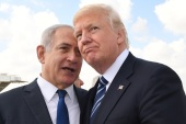 JERUSALEM, ISRAEL – MAY 23:  (ISRAEL OUT) In this handout photo provided by the Israel Government Press Office (GPO), Israeli Prime Minister Benjamin Netanyahu speaks with US President Donald Trump prior to the President's departure from Ben Gurion International Airport in Tel Aviv on May 23, 2017 in Jerusalem, Israel. Trump arrived for a 28-hour visit to Israel and the Palestinian Authority areas on his first foreign trip since taking office in January.  (Photo by Kob