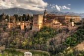 a view of la Alhambra fortress granada spain