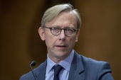 WASHINGTON, DC – OCTOBER 16: Brian Hook State department Special Representative for Iran testifies during the Senate Foreign Relations Committee Holds Hearing On US-Iran Policy on October 16, 2019 in Washington, DC. Tasos Katopodis/Getty Images/AFP== FOR NEWSPAPERS, INTERNET, TELCOS & TELEVISION USE ONLY ==