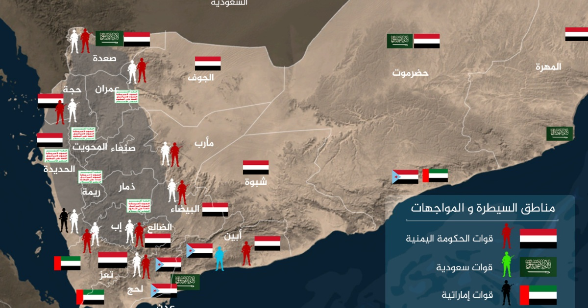 اليمن 2020 تعرف على خريطة سيطرة أطراف الصراع