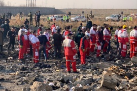 All passengers, crew members killed in Iran plane crash- – TEHRAN, IRAN – JANUARY 08: Search and rescue works are conducted at site after a Boeing 737 plane belonging to a Ukrainian airline crashed near Imam Khomeini Airport in Iran just after takeoff with 180 passengers on board in Tehran, Iran on January 08, 2020. All 167 passengers and nine crew members on an Ukrainian 737 plane that crashed near Iran's capital Tehran early Wednesday have died, according to a state official.