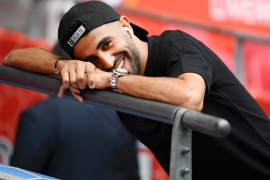 LONDON, ENGLAND – AUGUST 04: Riyad Mahrez of Manchester City looks on prior to the FA Community Shield match between Liverpool and Manchester City at Wembley Stadium on August 04, 2019 in London, England. (Photo by Clive Mason/Getty Images)