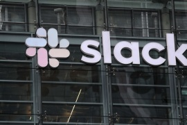 SAN FRANCISCO, CALIFORNIA – APRIL 02: A view of Slack headquarters on April 02, 2019 in San Francisco, California. Workplace messaging company Slack Technologies Inc. announced plans to list its shares on the New York Stock Exchange.   Justin Sullivan/Getty Images/AFP== FOR NEWSPAPERS, INTERNET, TELCOS & TELEVISION USE ONLY ==